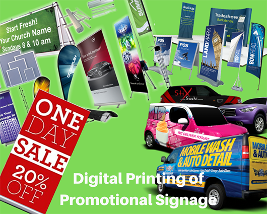 Promotional Signage in Advertising