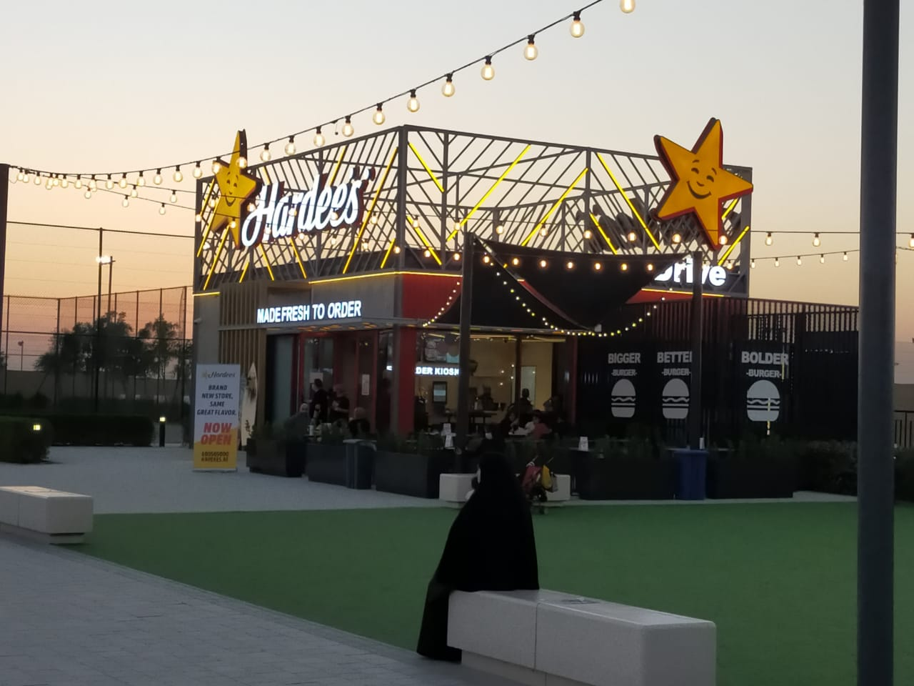 Signage work for Hardee's